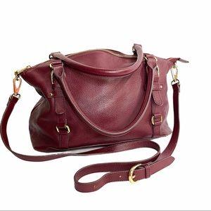 Ora Delphine Adele Leather Satchel Handbag
